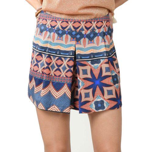 molly bracken R119BE21 CERAMIC CAMEL shorts donna blu e coccio