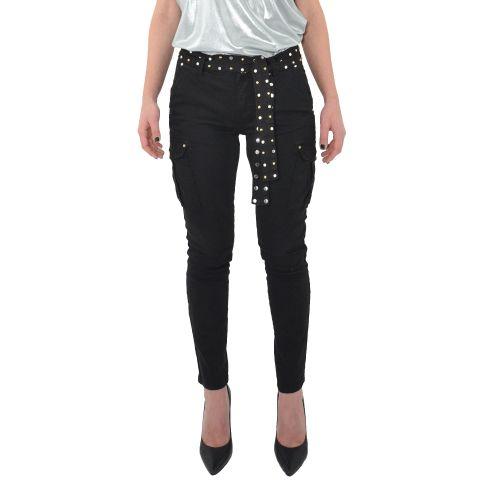 gaudi 111BD25020 2001 pantalone donna nero