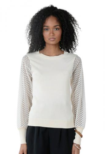 molly bracken LA687P21 BEIGE maglia donna beige