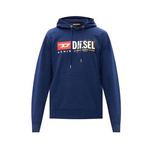 diesel S-GIRK-HOOD-CUTY 0IAJH 8MG felpa uomo blu