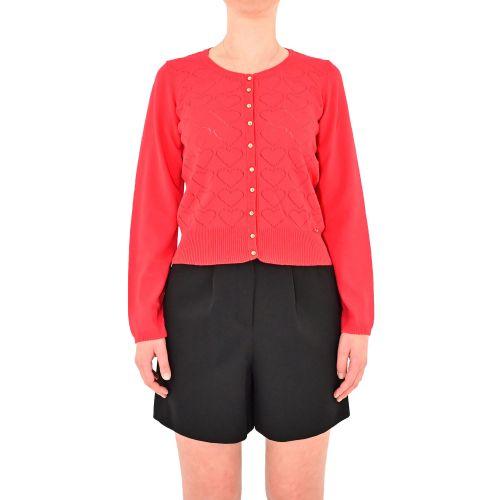 denny rose 111ND53011 3452 cardigan donna rosso