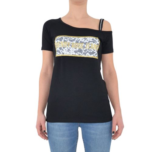 denny rose 111ND64011 2001 t-shirt donna nero