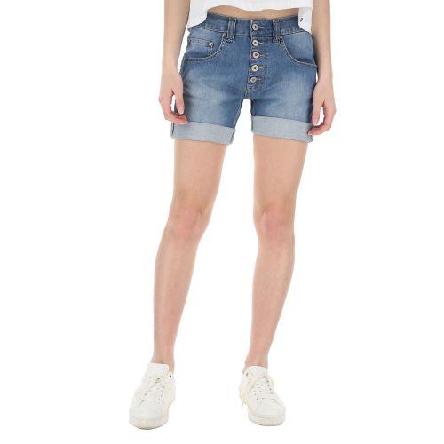 please shorts donna denim medio P88ABQ2W3Y