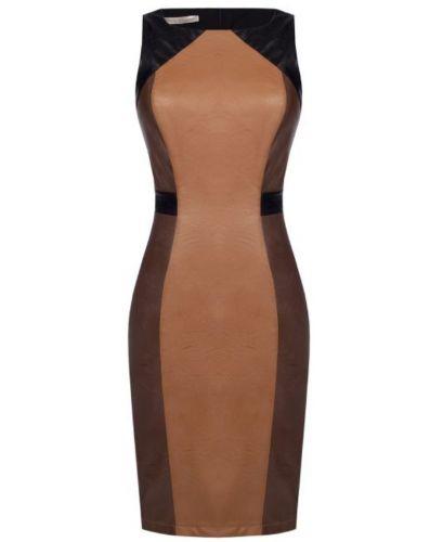 rinascimento CFC0017413002 B466 abito donna marrone e nero
