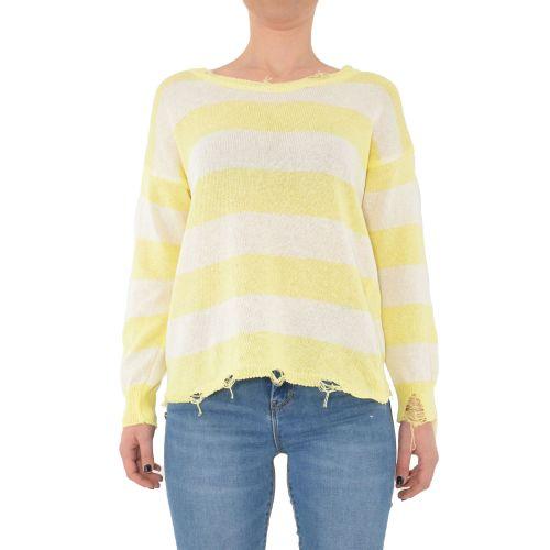 miss love 307 PANNA/GIALLO maglia donna giallo e panna