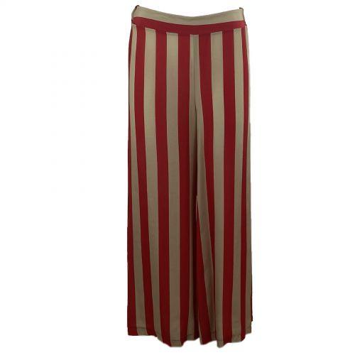 dixie PCF1PUA 1372 pantalone donna cammello e rosso