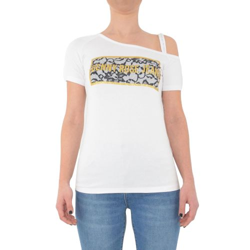 denny rose 111ND64011 2100 t-shirt donna bianco