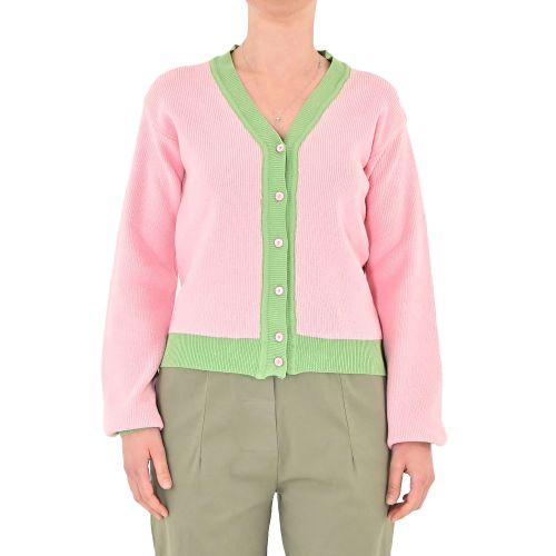 bighet 3601/14 ROSA/VERDE cardigan donna rosa e verde
