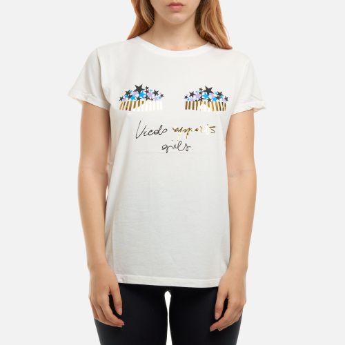vicolo RH0525 BIANCO t-shirt donna bianco