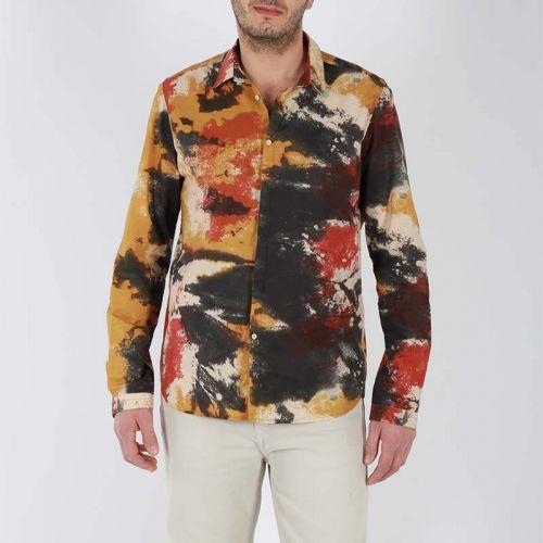 berna camicia uomo cammello panna M 210015