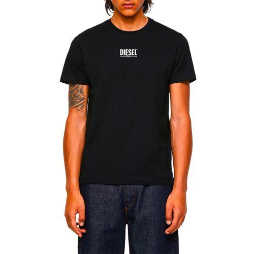 diesel t-shirt uomo nero T-DIEGOS-ECOSMALLOGO