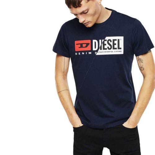 diesel T-DIEGO-CUTY 0091A 8MG t-shirt uomo blu