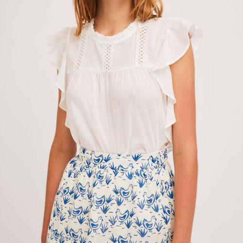 compania fantastica SS21SHE54 BIANCO blusa donna bianco